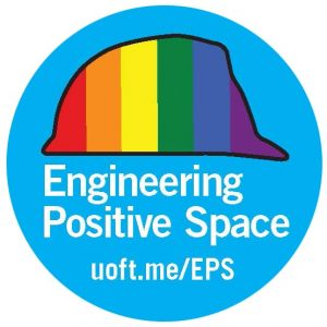 positive spaces sticker