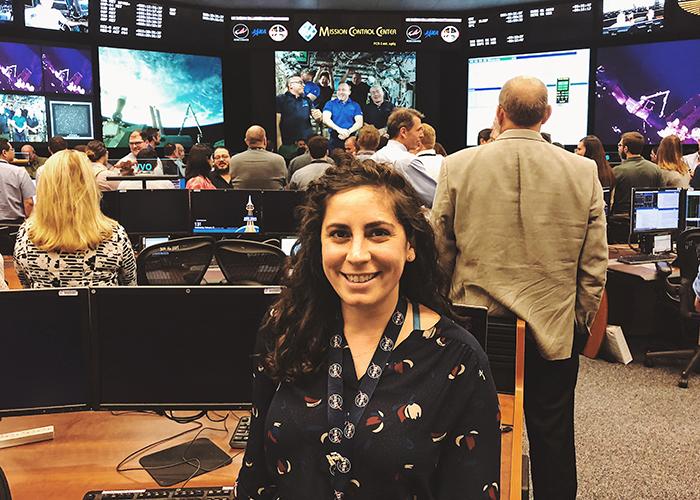 Kristen Facciol in control room