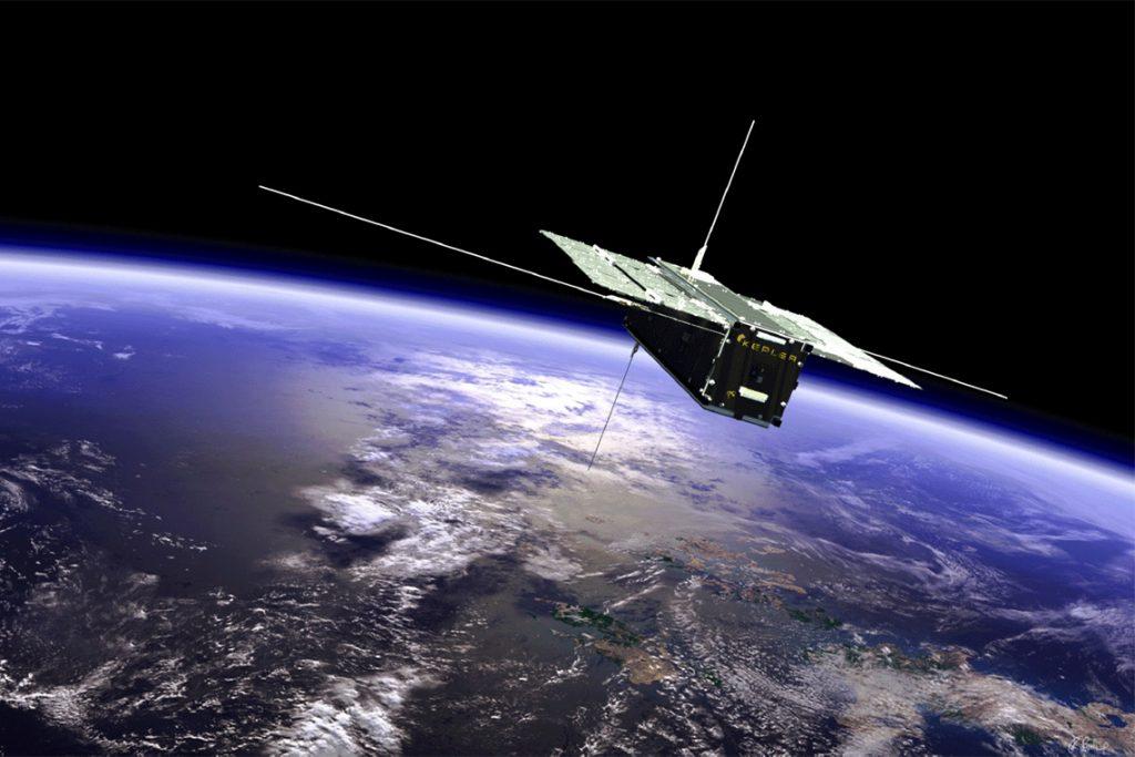 satellite above Earth