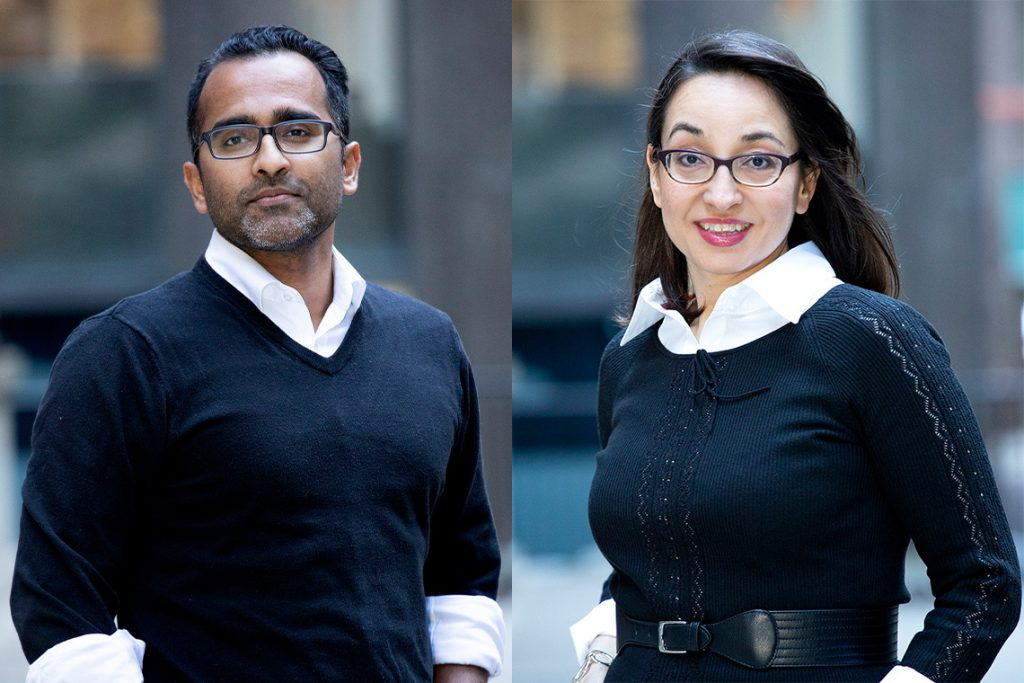 MOLLI Surgical's Ananth Ravi (left) and Fazila Seker (right)