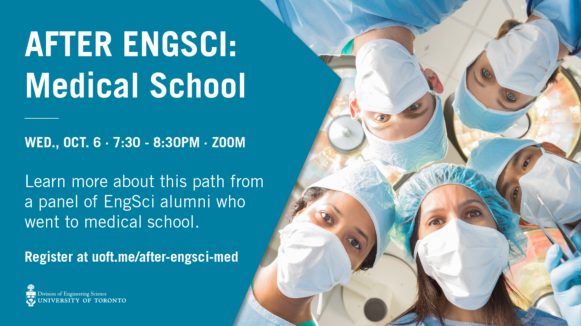 After EngSci: Medical School, Wed., Oct. 6, 7:30 pm, Zoom